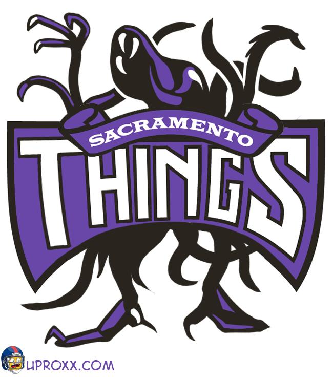 Los logos de la NBA al estilo Halloween, sacramento