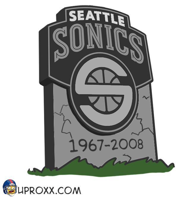Los logos de la NBA al estilo Halloween, seattle