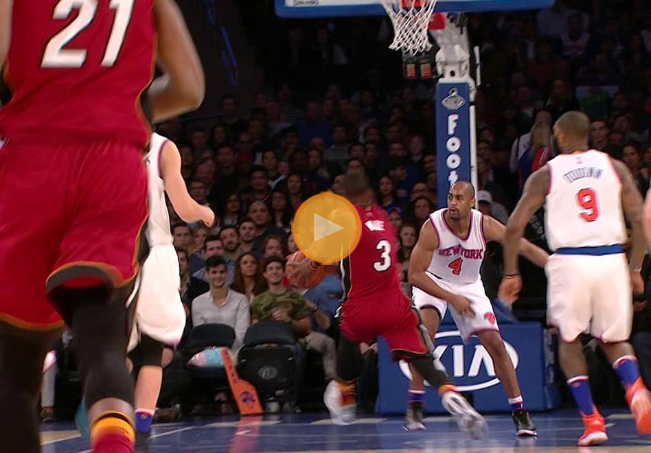 Dwyane Wade dictó cátedra en el Madison Square Garden ante los Knicks
