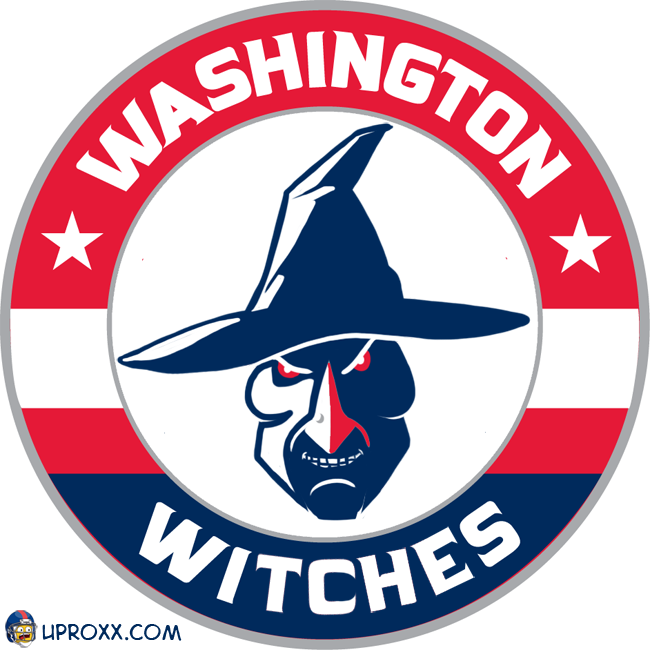 Los logos de la NBA al estilo Halloween, washington