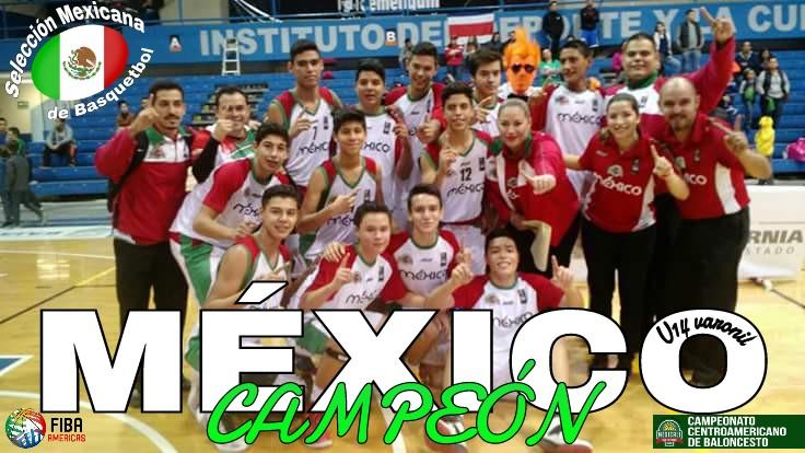 México se queda con el título en COCABA U14