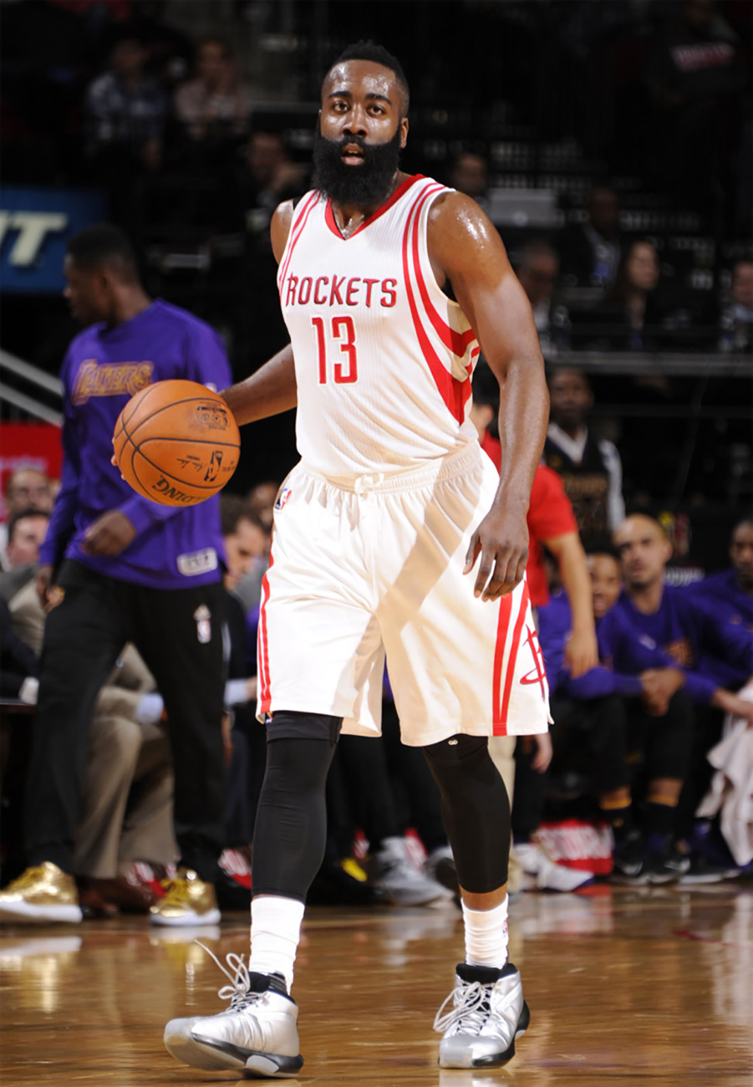 James Harden - Houston Rockets. Adidas Crazy Kobe 1 Silver.