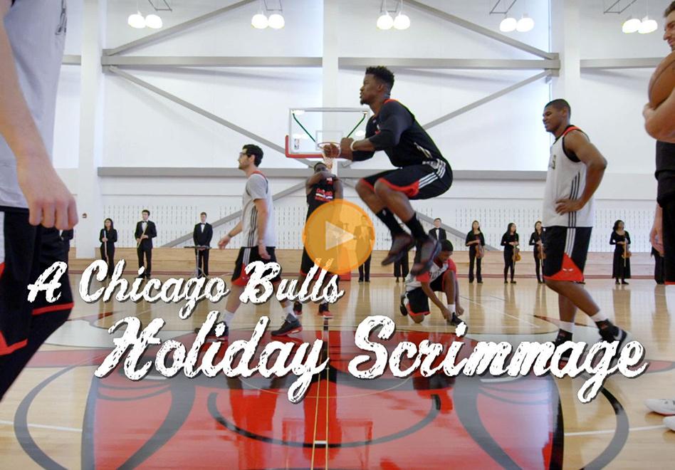 Los Bulls entrenan a ritmo navideño