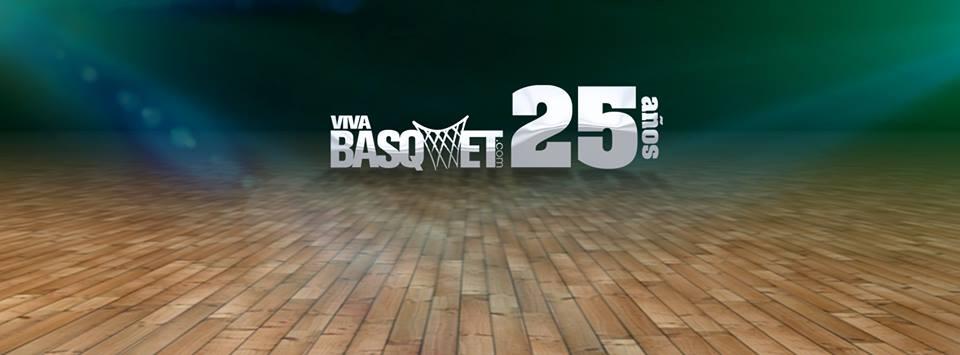 viva basquet logo de 25 años