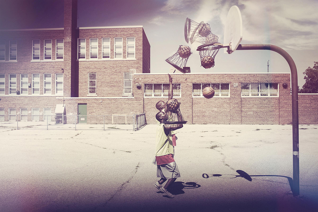 BlackNet es una red para jugar basquetbol portatil