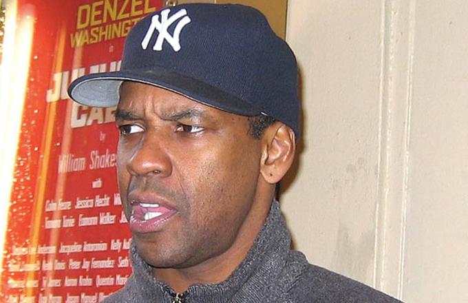 Si se hiciera una película sobre él, le gustaría ser interpretado por Denzel Washington