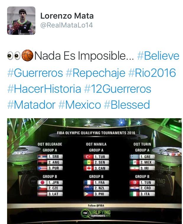 lorenzo mata apoya a la seleccion mexicana de basquetbol para el repechaje en italia para ir a rio 2016