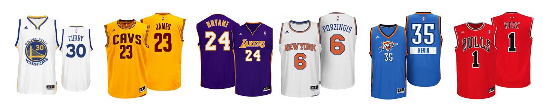 los jerseys mas vendidos en la NBA