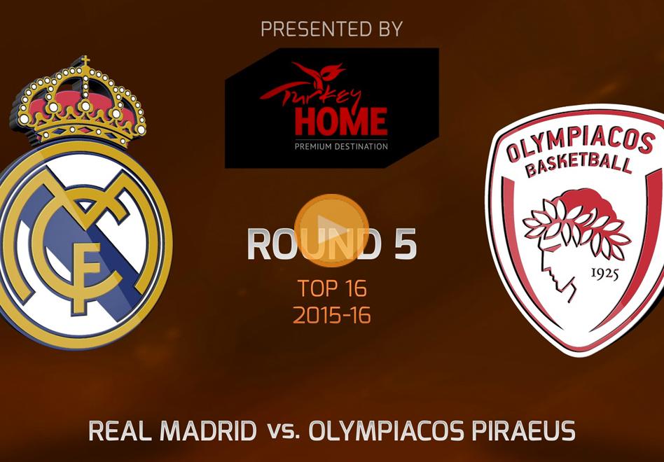 Triunfo del Real Madrid sobre el Olympiacos en Euroliga por Viva Basquet