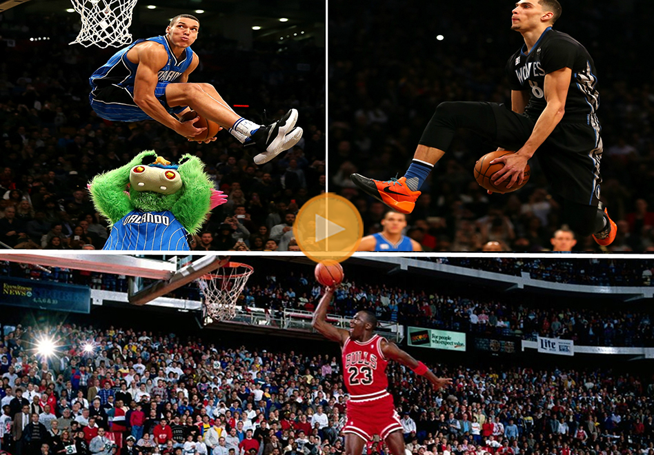 Slam Dunk Contest: Zach Levive / Aaron Gordon vs. Michael Jordan
