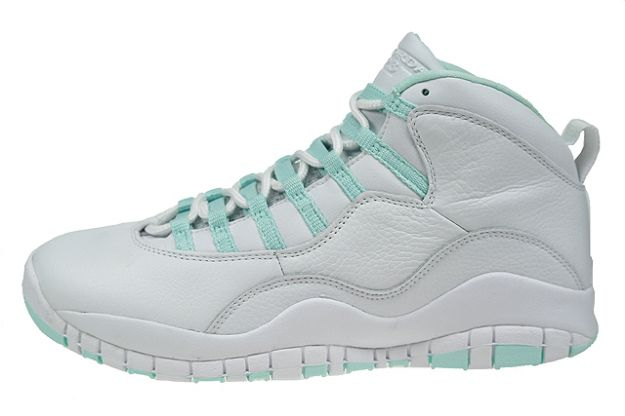 Air Jordan X White Ice Green