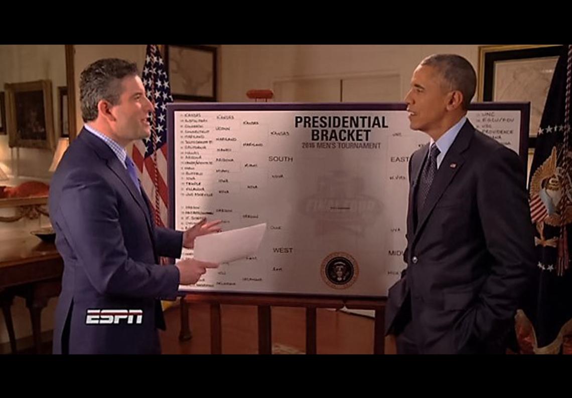 thumbnail. Los favoritos de Barack Obama para el March Madness