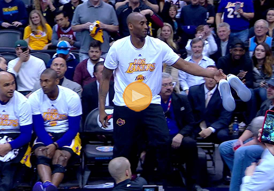 Regalazo de Kobe a sus fans en Denver