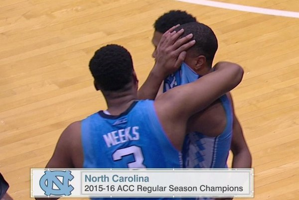 La Universidad de North Carolina es campeona del ACC.