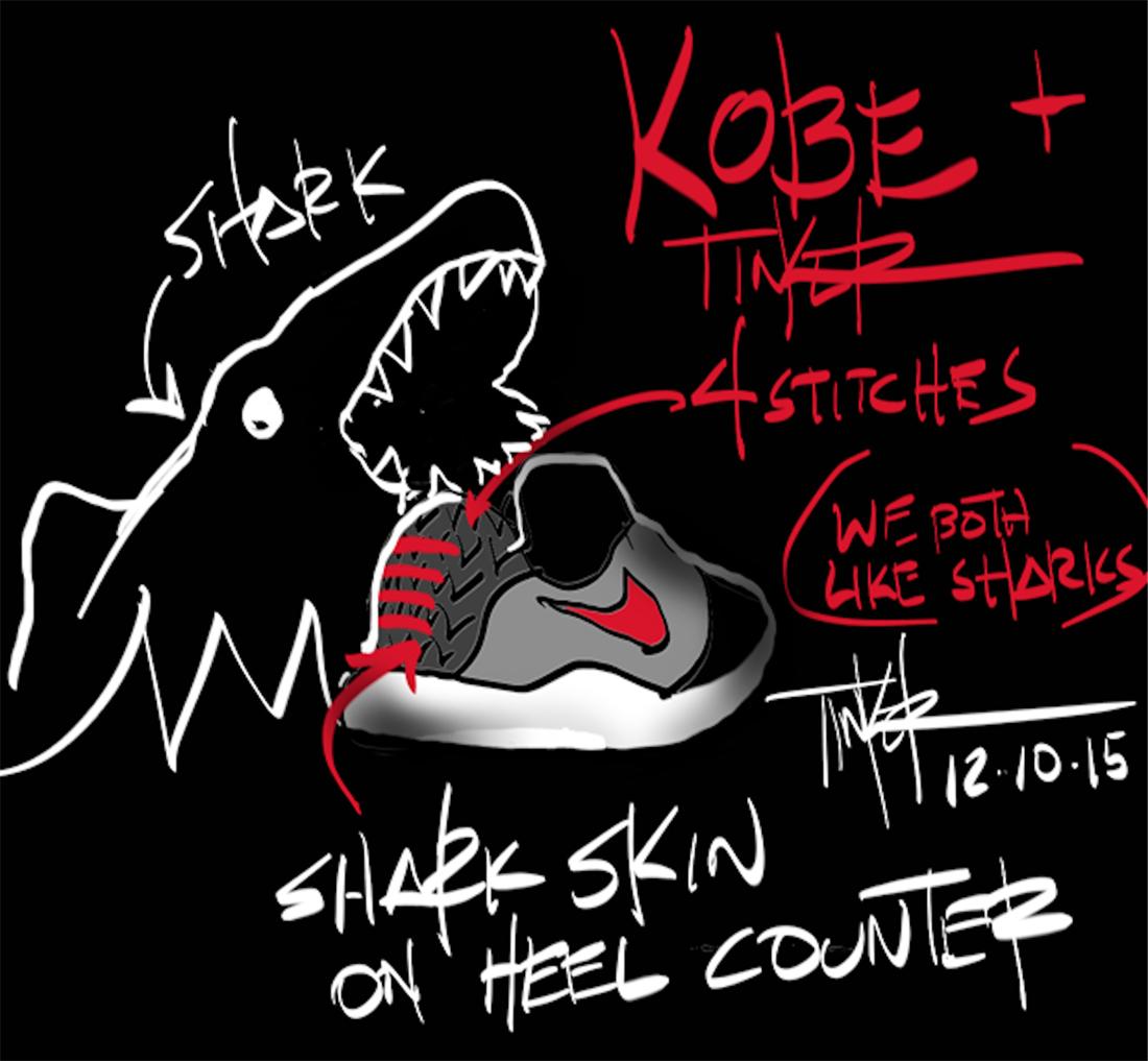 Kobe 11 Muse Pack en honor a Jordan foto boceto