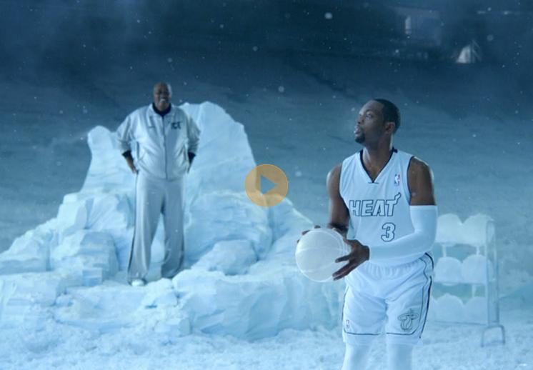 """Dwyane Wade y George """"The Iceman"""" Gervin congelados por Viva basquet"""