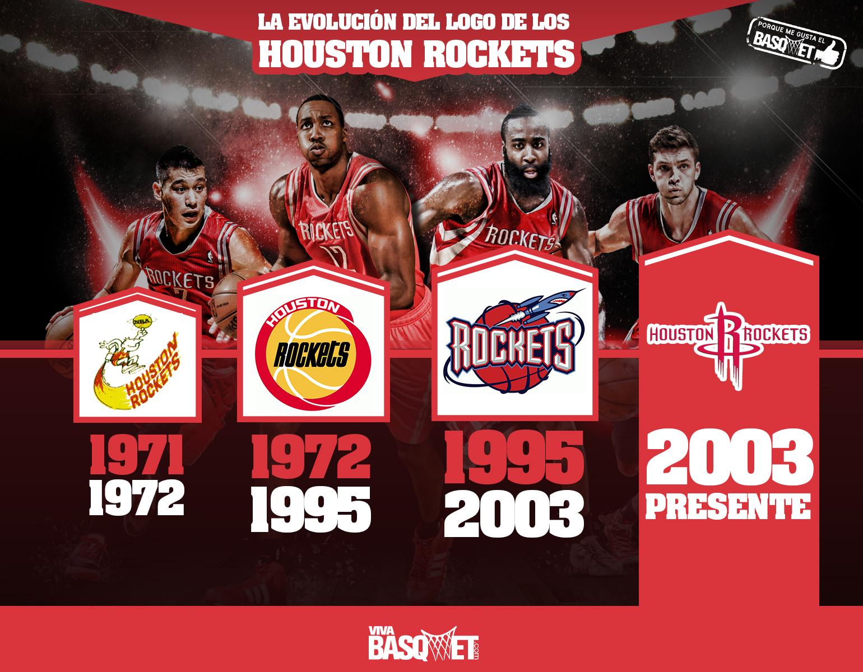 La evolución del logo de los Houston Rockets por Viva Basquet.