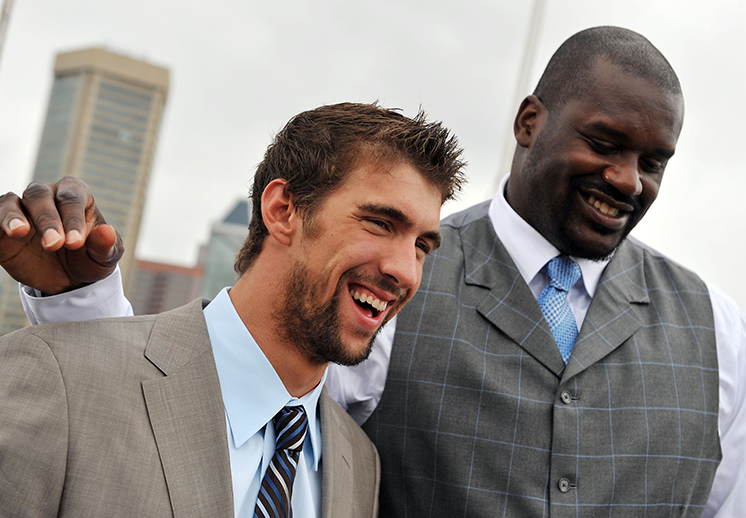 Shaquille O'Neall vs Michael Phelps