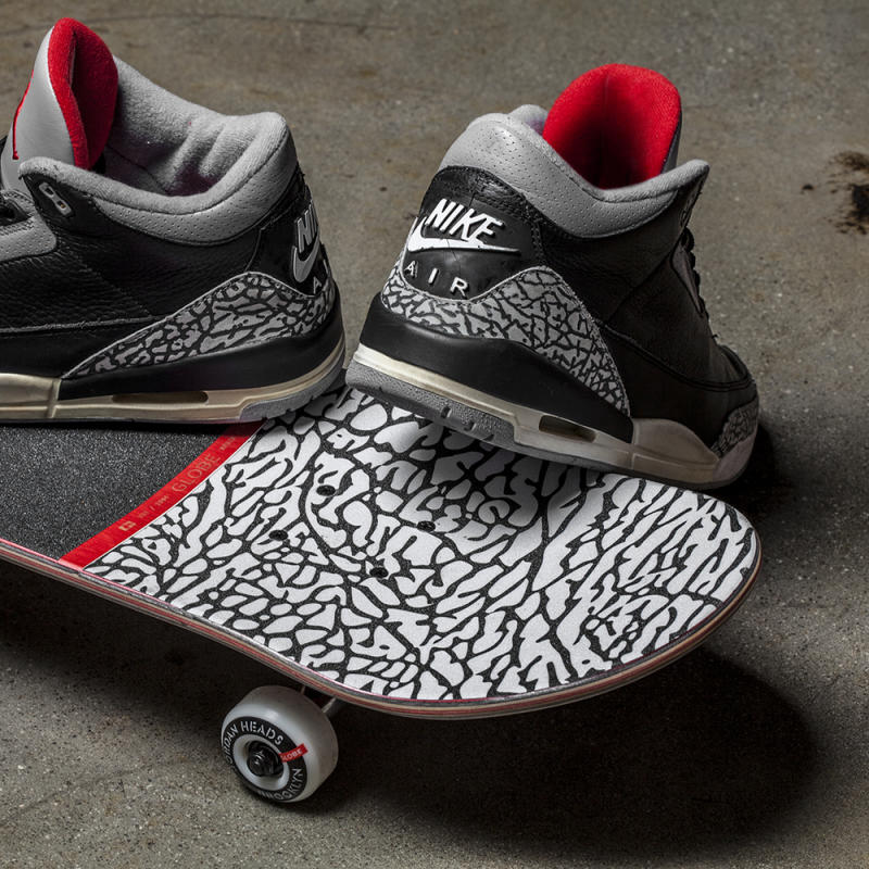Patinetas de Jordan Heads Brooklyn x Globe Brand.