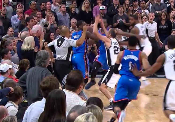 Con polémica el Thunder derrrotó a los Spurs por Viva Basquet