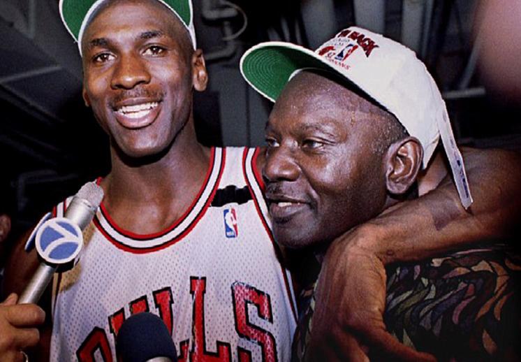 Michael Jordan y su Su padre James R. Jordan.