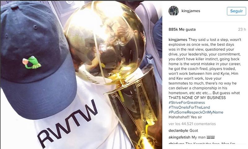 LeBron responde orgulloso a sus críticos