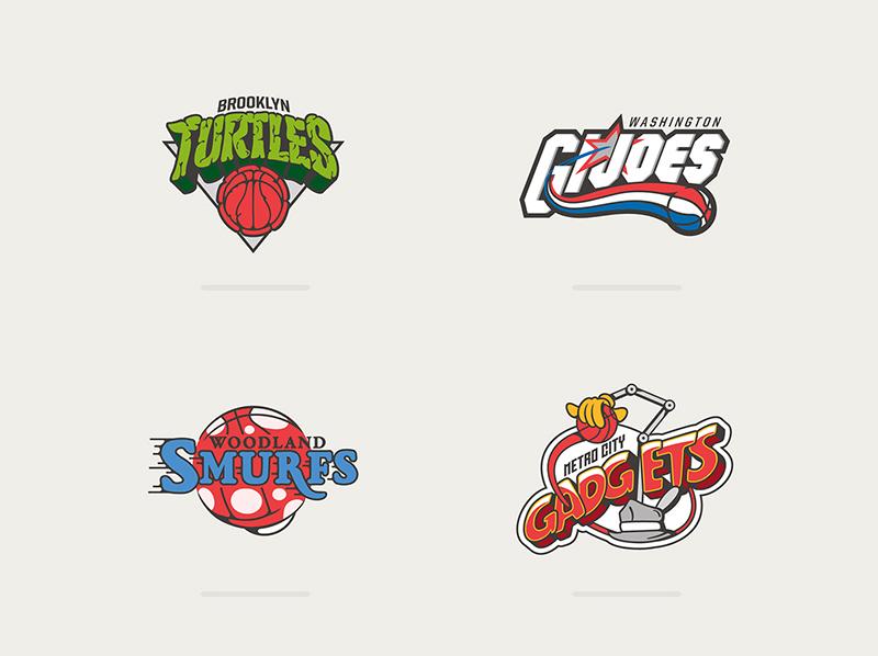 Los logotipos de la NBA inspirados por caricaturas foto 1