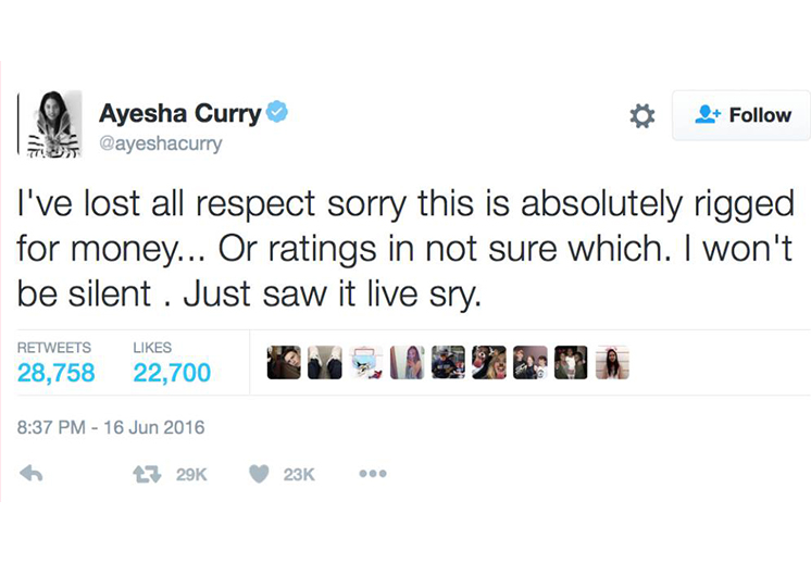 Polémicas declaraciones por parte de Ayesha Curry