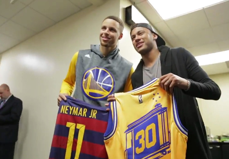 Neymar de vista con los Warriors