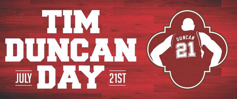 21 de julio, día de Tim Duncan en San Antonio
