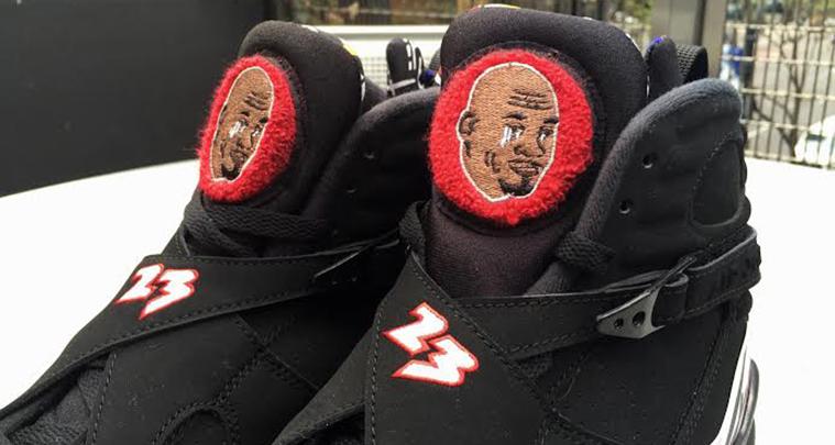 Air Jordan 8 'Crying Meme' por Viva Ball