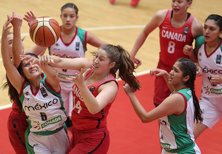 México perdió con Canadá en el inicio del U18 Femenil por Viva Basquet