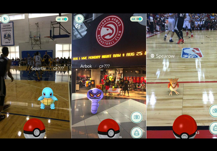Pokemon Go en la NBA