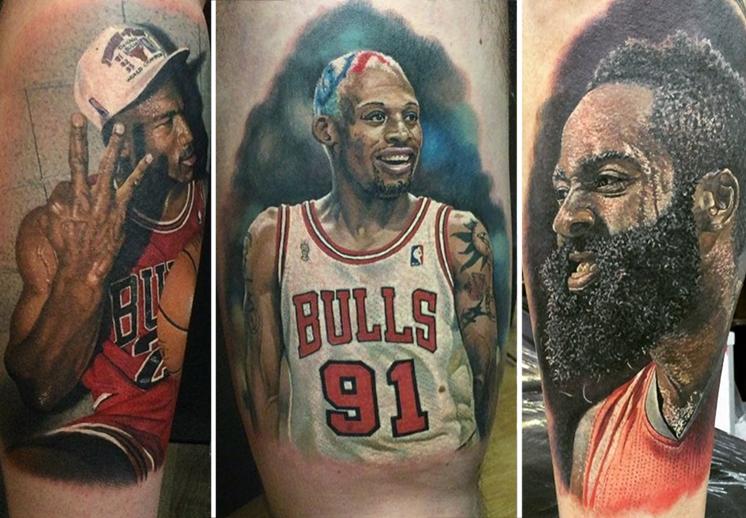 El rey de los tatuajes de basquetbol