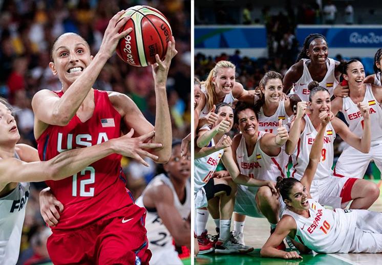Norteamericanas y españolas se enfrentarán por el oro olímpico