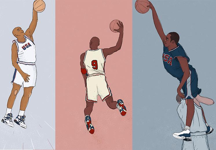 Ilustraciones olímpicas por Viva Basquet