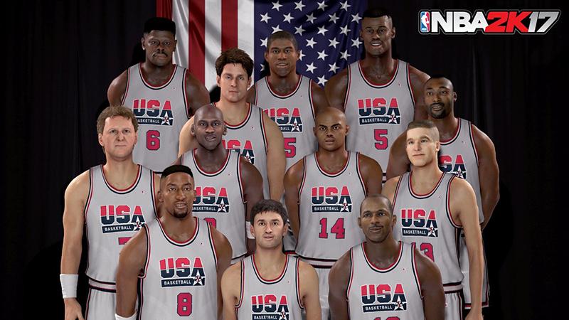 dream team en el NBA 2k17