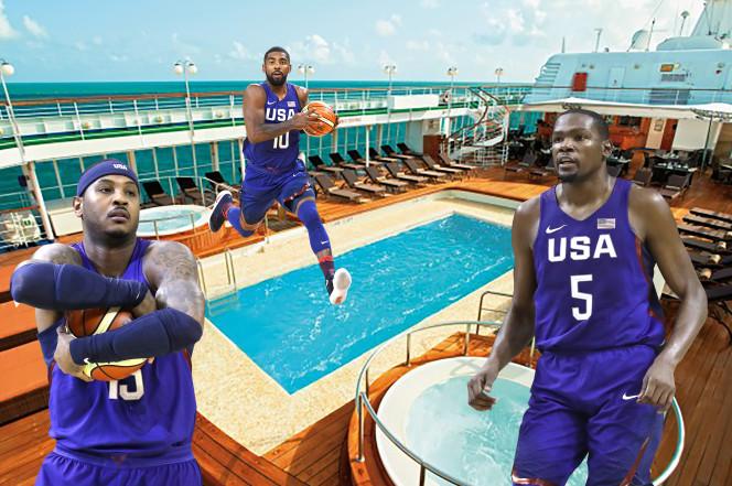 Las estrellas de la NBA están alojadas en un yate