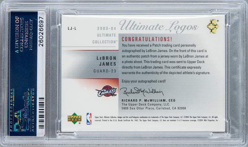 A subasta tarjeta de LeBron James en su año de novato foto 2