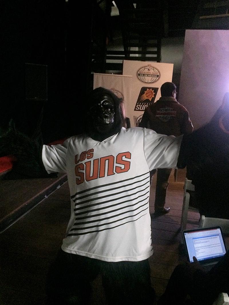 jersey de los suns para el NBA global games en la ciudad de mexico