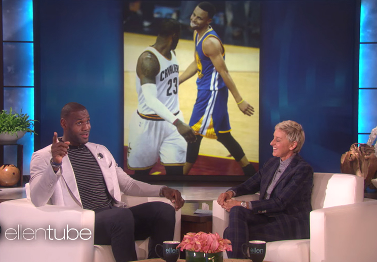 LeBron James en entrevista con Ellen DeGeneres