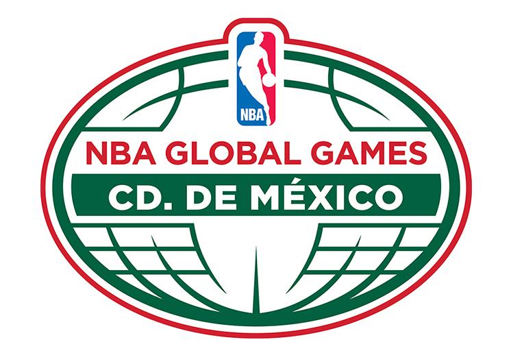 logo NBA global games CD. De Mexico
