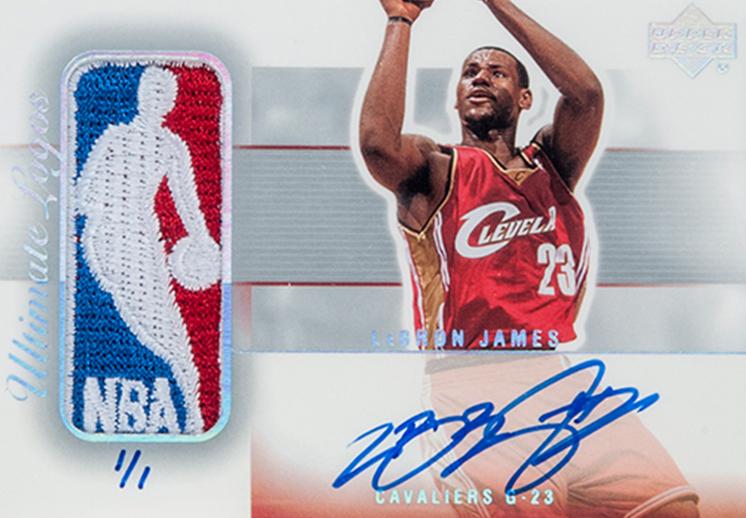 thumbnail. A subasta tarjeta de LeBron James en su año de novato