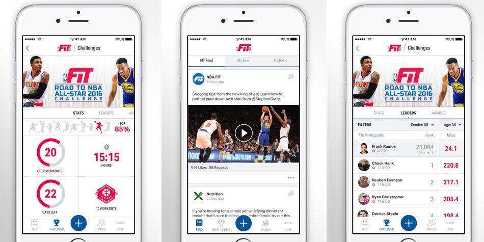 La NBA lanza su fitness app