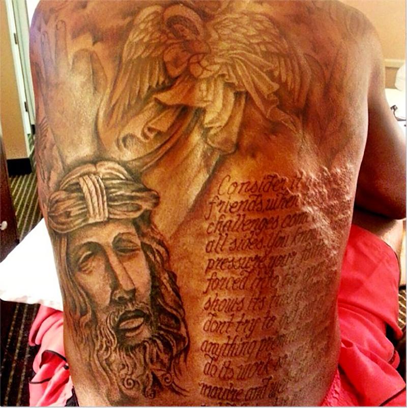 kevin durant tatuaje religioso