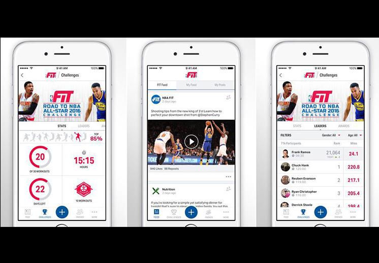 thumbnail. La NBA lanza su fitness app