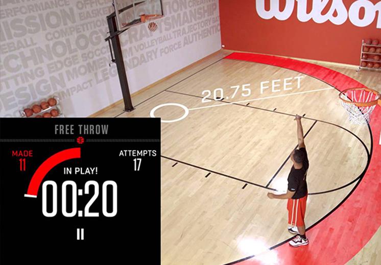 Entrenamiento de basquetbol ayudado por la tecnología