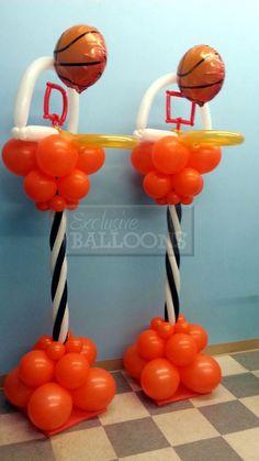 adornos para una fiesta de basketball