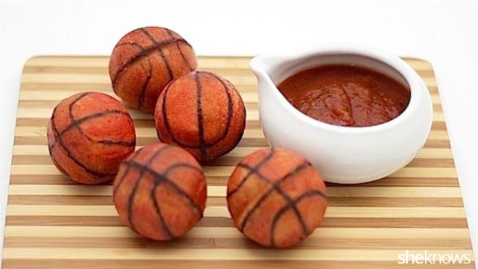postres de balones de basquetbol