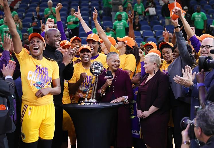 Sparks campeonas de la WNBA